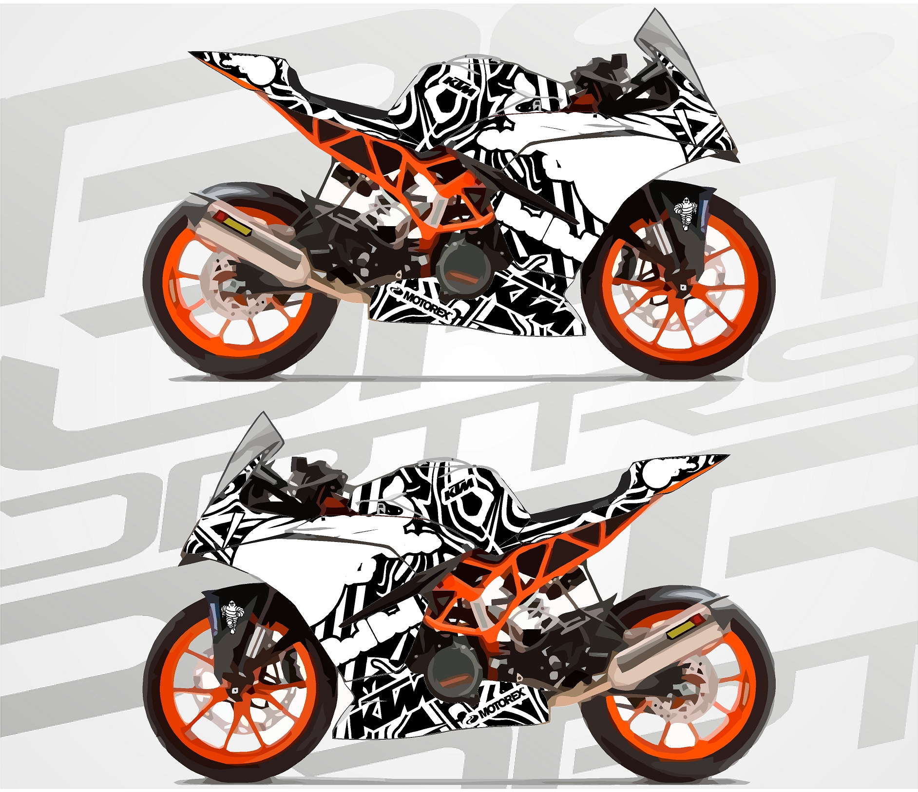 ktm rc390 supersport Proto