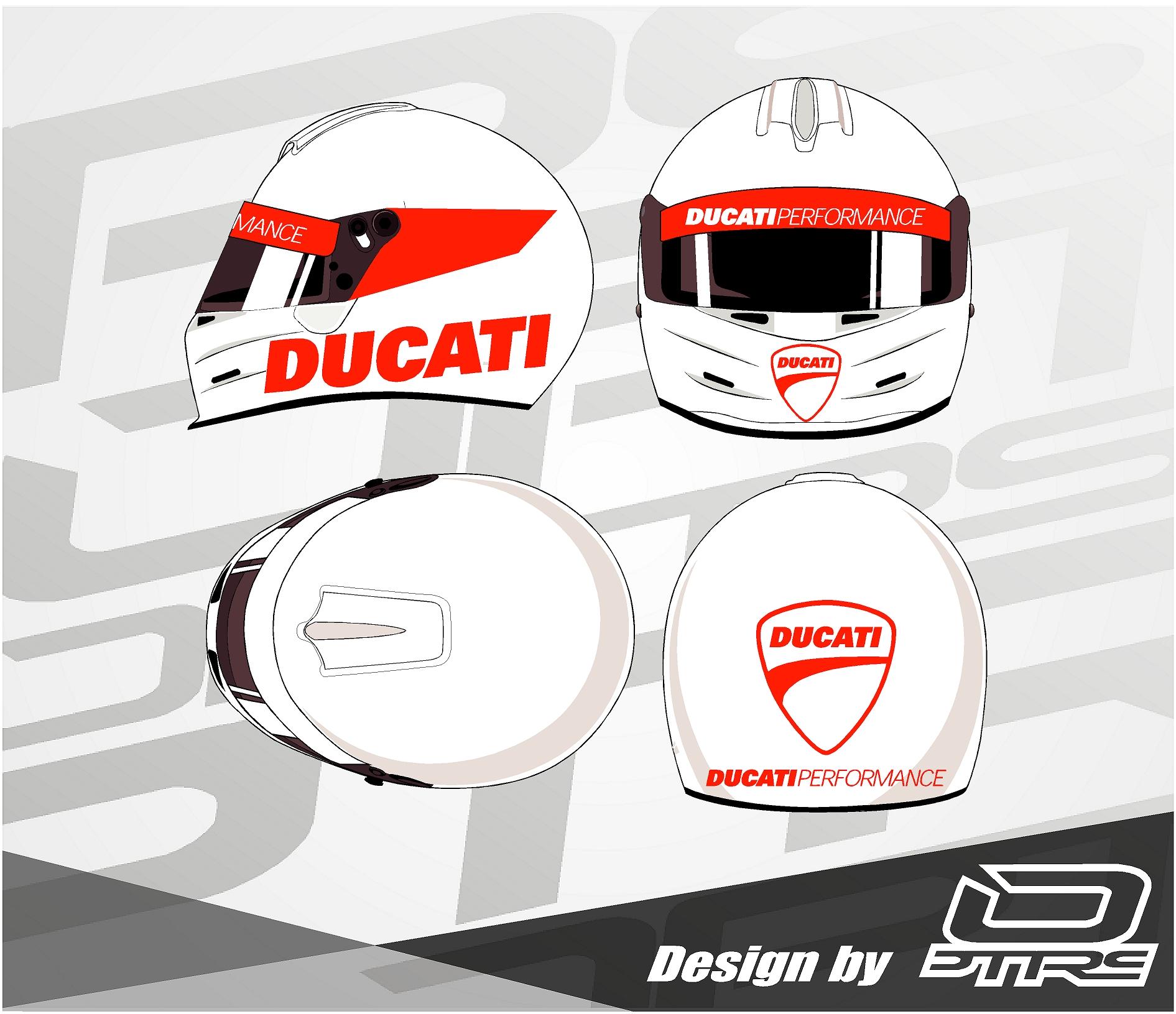 Adhesivos para casco Ducati