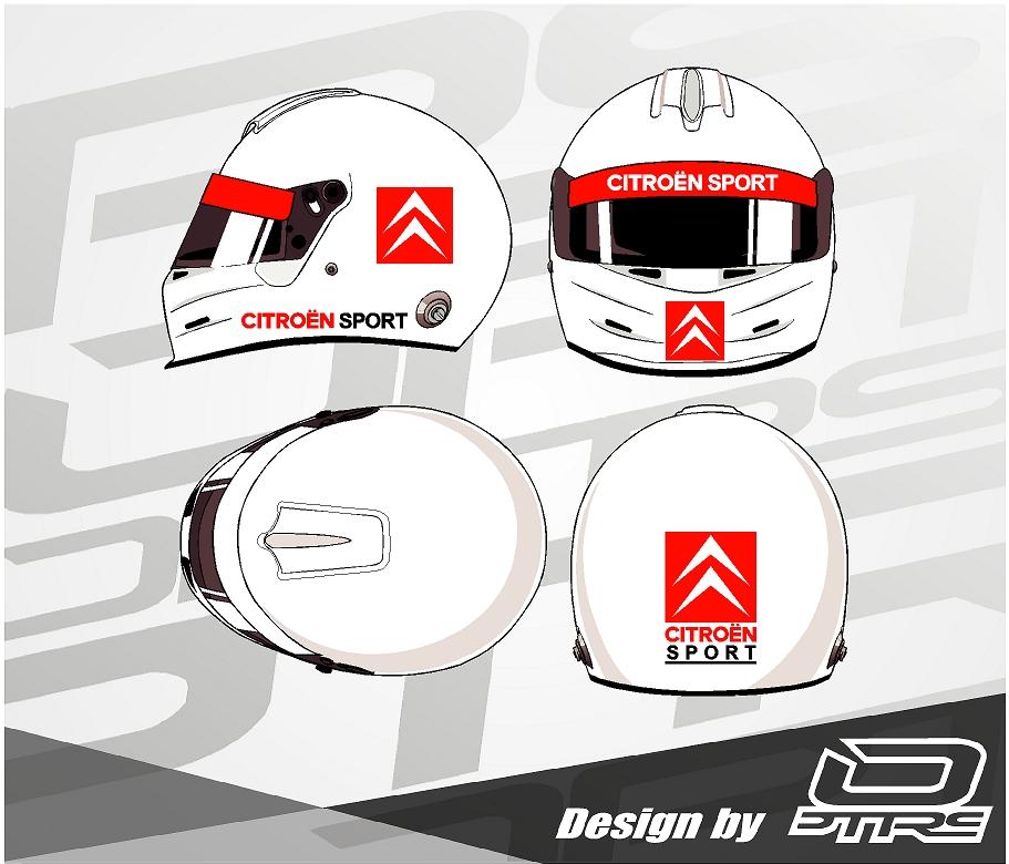 Adhesivos para casco Citroen Sport