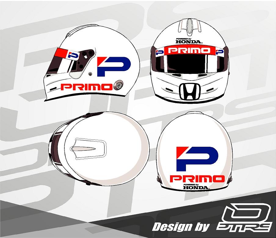 Adhesivos para casco Honda Primo