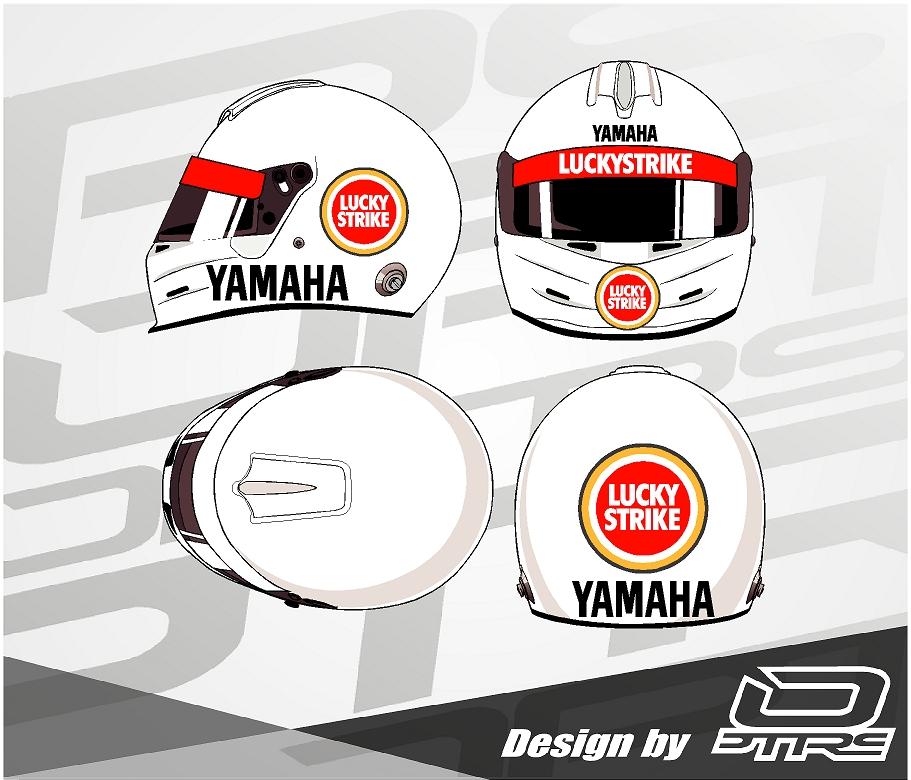 Adhesivos para casco Lucky Strike Design