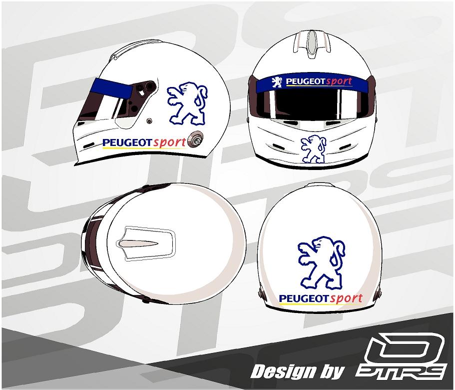 Adhesivos para casco Peugeot Sport