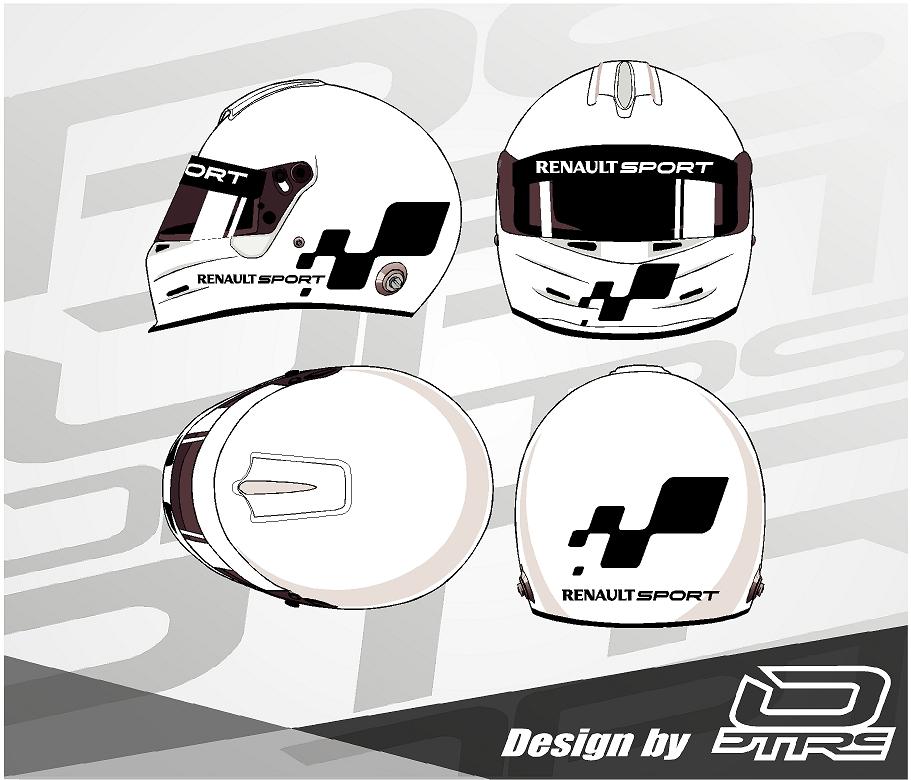 Adhesivos para casco Renault Sport