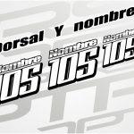 Dorsal + nombre