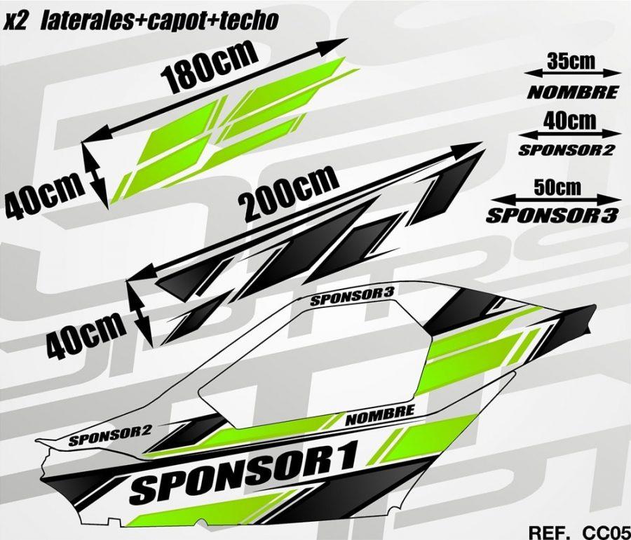 KIT Carcross Semipersonalizado Universal Pro Graphic green
