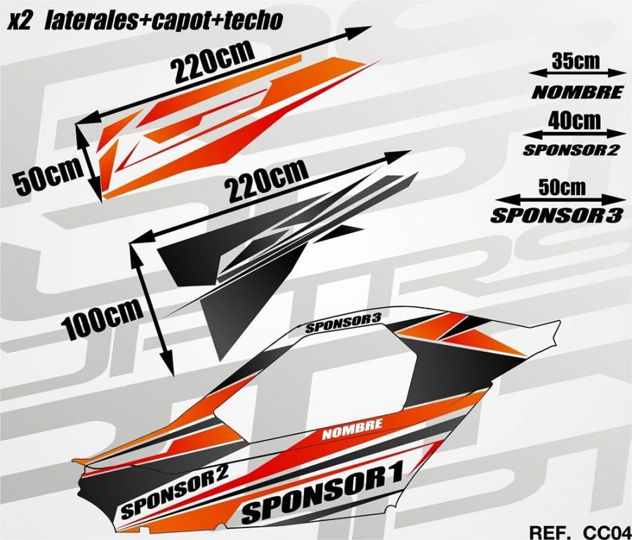 KIT Carcross Semipersonalizado Universal Pro Graphic red