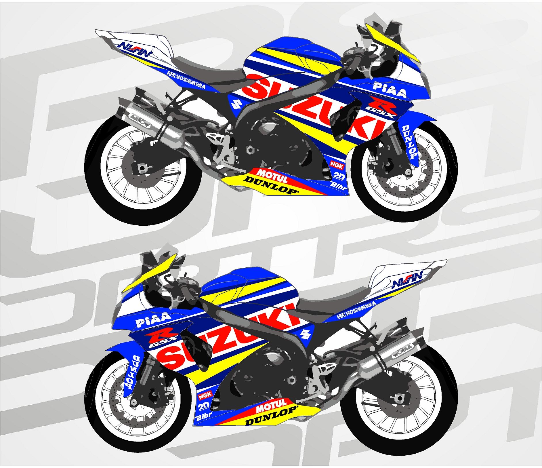 Suzuki GSX R Blue