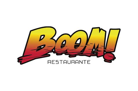 Boom burger logo